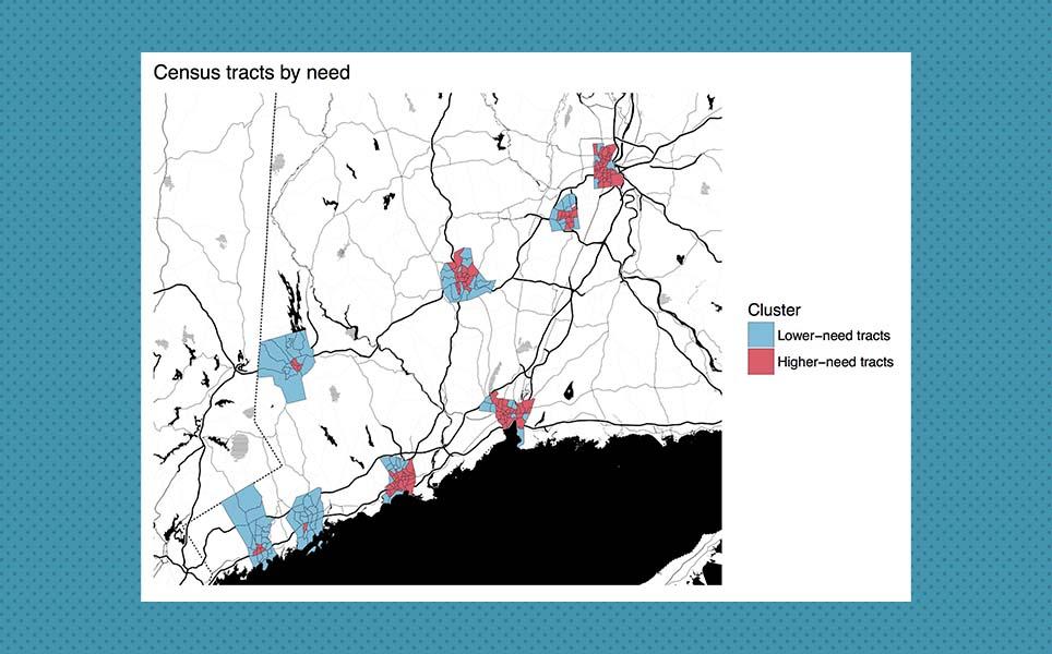 500 Cities data CDC DataHaven Connecticut data analysis