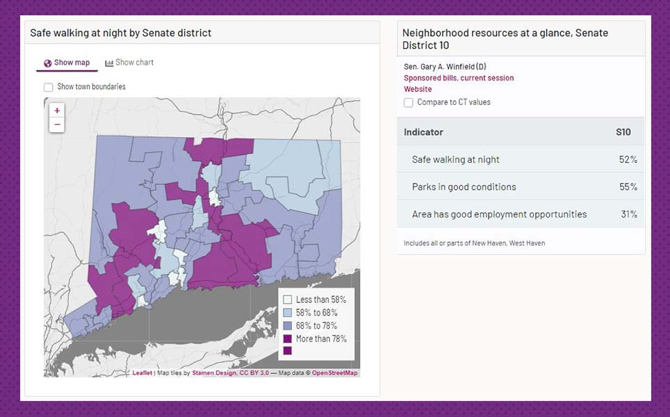 Connecticut House and Senate district data viewer