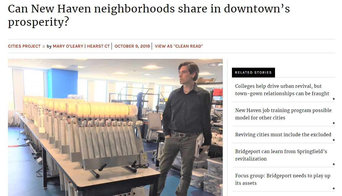 front cover Connecticut Mirror article with DataHaven data