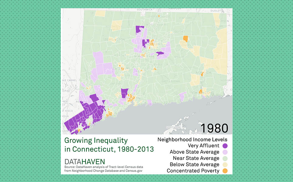 Income Inequality Connecticut Neighborhoods DataHaven