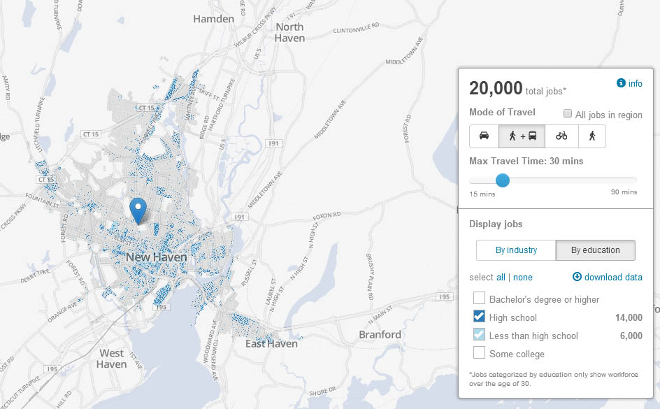 Transit Access Dixwell New Haven Regional Plan DataHaven
