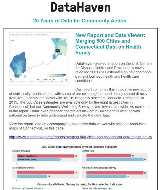 Connecticut data newsletter header