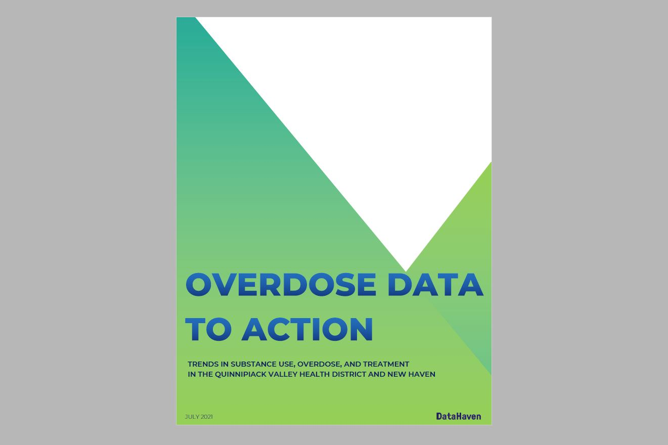 Cover thumbnail of July 2021 QVHD and New Haven Health Opioid Data Report