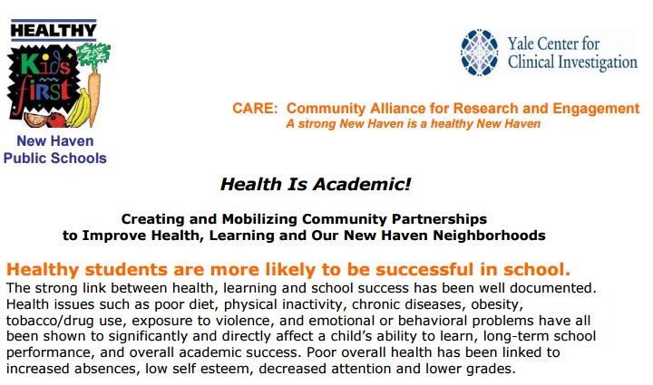 CARE New Haven Schools and Health