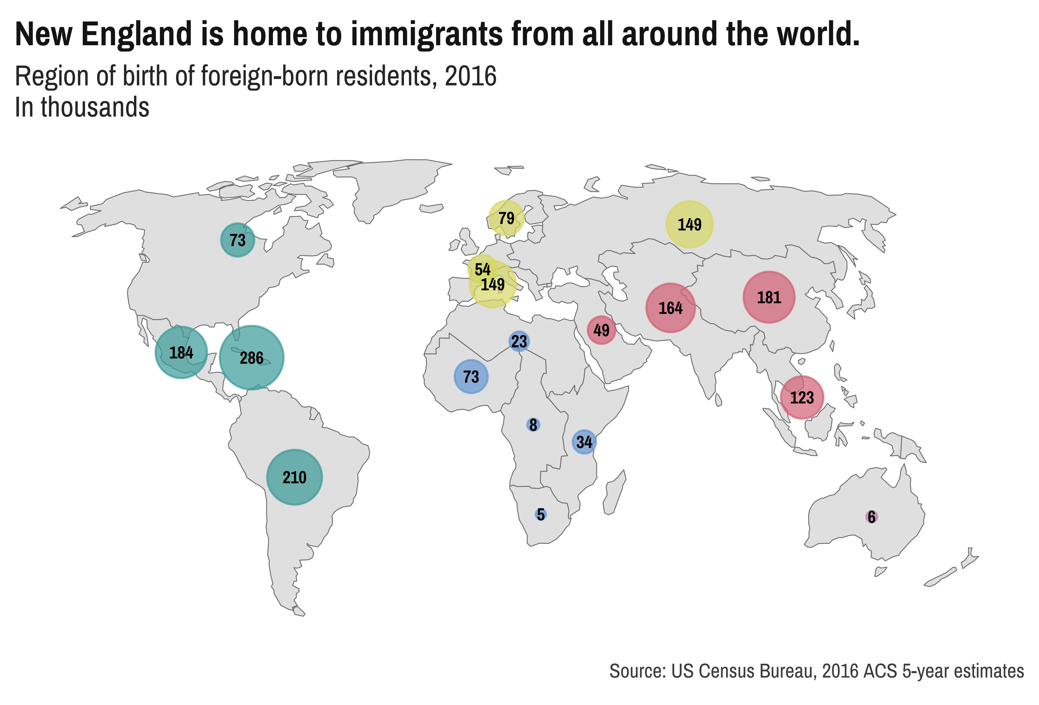 New England foreign born population DataHaven plot Census data NENC